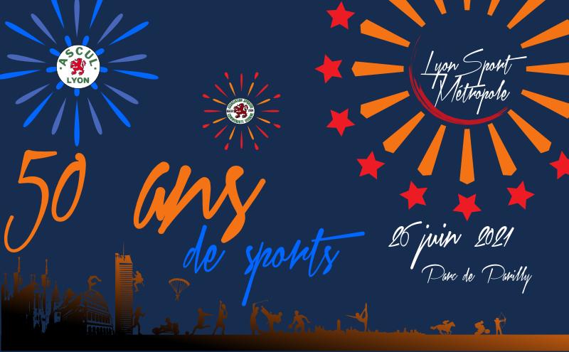 Affiche Paysage 50 ans Lyon Sport Métropole